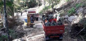 Hari Kedelapan TMMD, Jalan Sepanjang 500 Meter Sudah Ditimbun