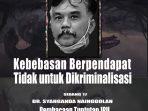 Dukung Mahfud MD Soal Cukong, Syahganda Menunggu Tuntutan Jaksa