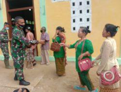 Sebelum Pergi Ke Gereja GKPA Dianjurkan Jalankan Prokes, TMMD Tapsel
