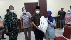 Dandim 0212/Tapsel Hadiri Lounching Penyerahan Bantuan Beras Dimasa PPKM
