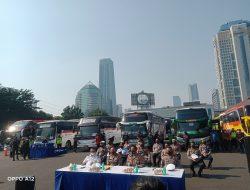 Polda Metro Kandangkan 36 Bus AKAP yang Melanggar Syarat Perjalanan PPKM Darurat